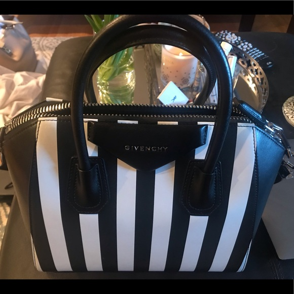 26649e02fc96 Givenchy Handbags - Small Antigona  Stripe Calfskin Leather Satchel